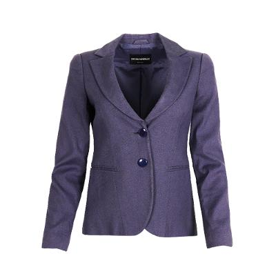 two buttons classic blazer black